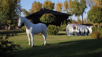 horse statue in park