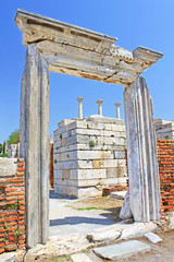 The ruins of the st. Johns Basilica, Istanbul, Turkey