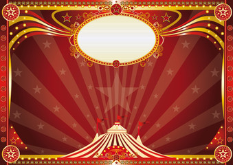 Horizontal Blue circus background