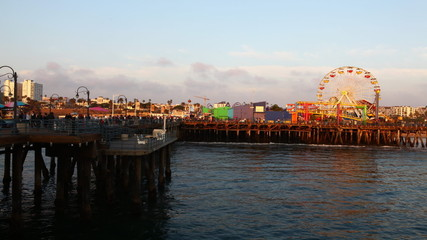A timelapse view of the Santa Monica pier