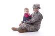 Us military mother with her baby - 76448940
