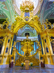 Interior of the Peter and Paul Cathedral in St Petersburg