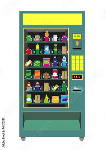 Green Vending Machine vector isoalted on white. - 76450591