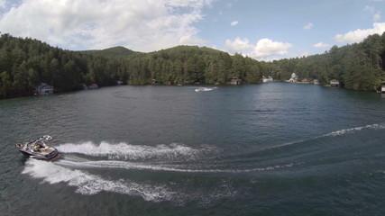Lake Aerial Boats