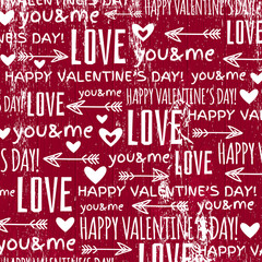red background with  valentine heart and wishes text