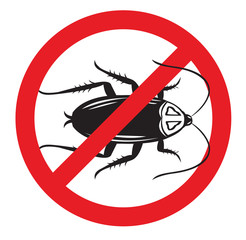 No More or Kill Cockroach Pests Icon. Isolated on white icon