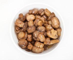 Mushrooms marinated with balsamic vinegar
