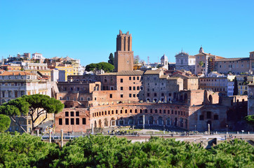 view of Rome from the Victorian