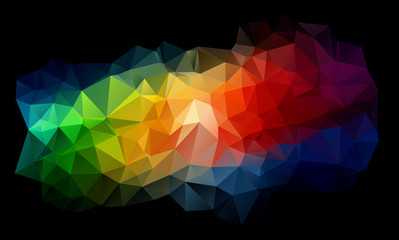 Triangles abstract