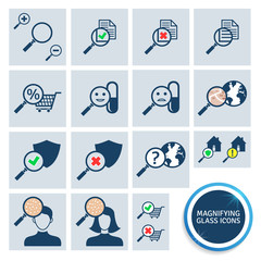 Magnifying glass icons. EPS10.