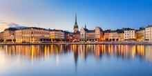 "Постер, картина, фотообои ""Gamla Stan at night in Stockholm"""