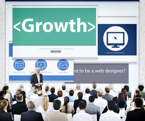 Business People Web Design Growth Presentation Concept