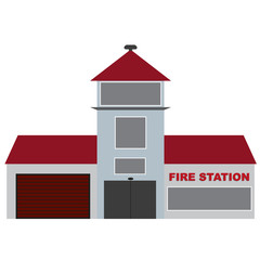 vector fire station building