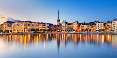 Gamla Stan at night in Stockholm