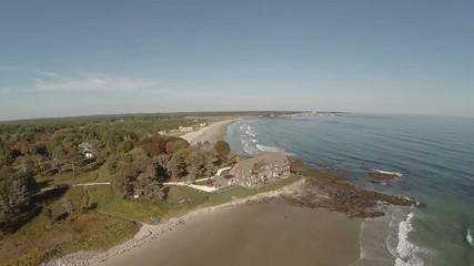 Maine Aerial Coastline Home