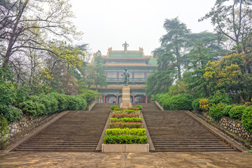 Memorial Hall of former president Dr.Sun Yat-sen near Nanjing Ci