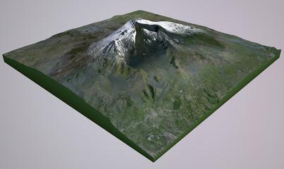 Vista aerea del vulcano Etna cartina Sicilia