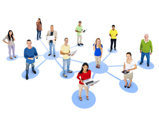 Group Diverse People Interconnection Social Networking Concept