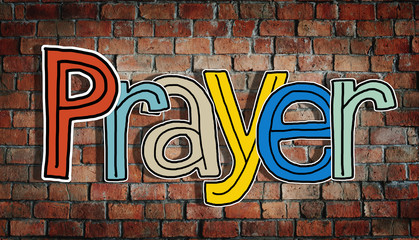 Prayer Word Concepts Isolated Background Concept