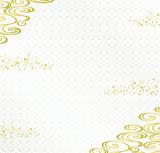 金箔と和波 和風背景