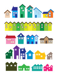 Colorful House illustrations