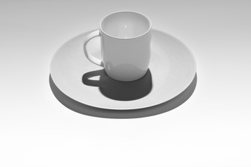 Minimalistic cup on tray