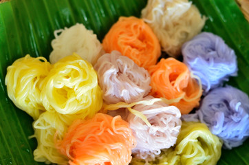 Color thai rice vermicelli