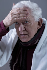 Pensioner having high fever