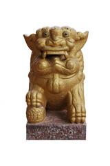 Gold Leo statue