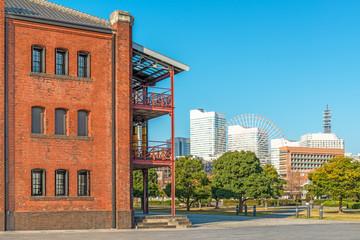 View of modern city in Yokohama, Japan