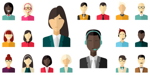 Different people character, male, female, businessman