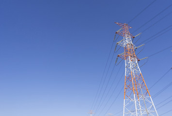 送電線  電力自由化素材