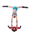 New Year's show of cheerful young acrobats