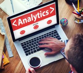 Business Online Analytics Information Office Working Concept