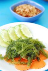 Green caviar seaweed