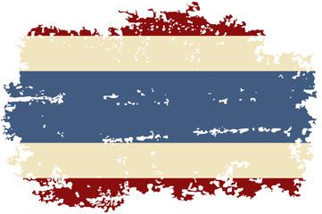 Thai grunge flag. Vector illustration.