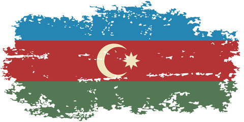 Azerbaijani grunge flag. Vector illustration.