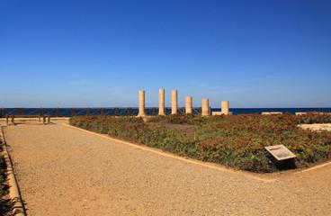 Herods Promontory Palace in Caesarea Maritima National Park