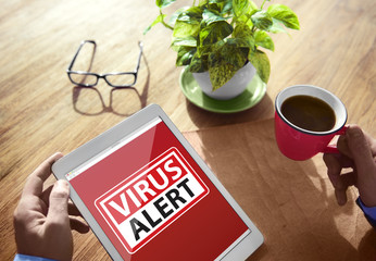 Virus Alert Warning Digital Device Wireless Browsing Concept