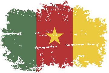 Cameroon grunge flag. Vector illustration.