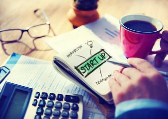 Businessman Notepad Start Up Innovation Concept