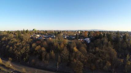 Portland Aerial Neighborhood Train Yard