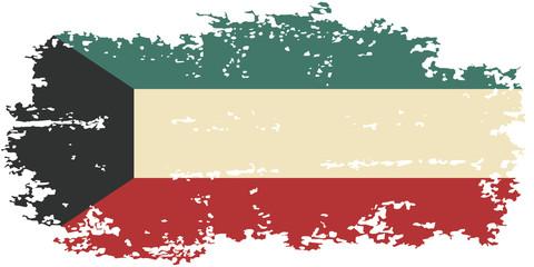 Kuwait grunge flag. Vector illustration.