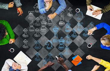 Chess Board Game Sports Playing Concept