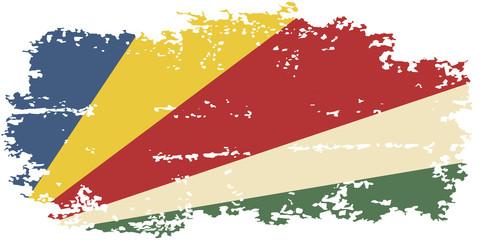 Seychelles grunge flag. Vector illustration.