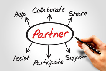 Partner diagram, business concept