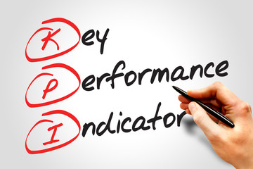 Key performance indicator (kpi), business concept acronym