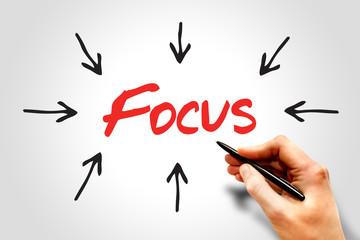 Focus arrows directions, business concept
