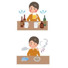 たばこ 男性 お酒