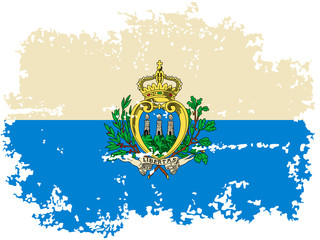 San Marino grunge flag. Vector illustration.